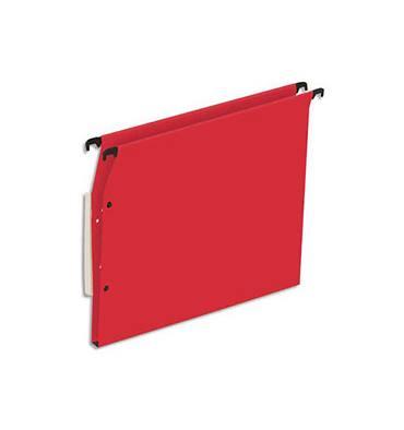 5 ETOILES Boîte de 25 dossiers suspendus ARMOIRE en kraft 220g. Fond 15 mm, volet agrafage + pression. Rouge