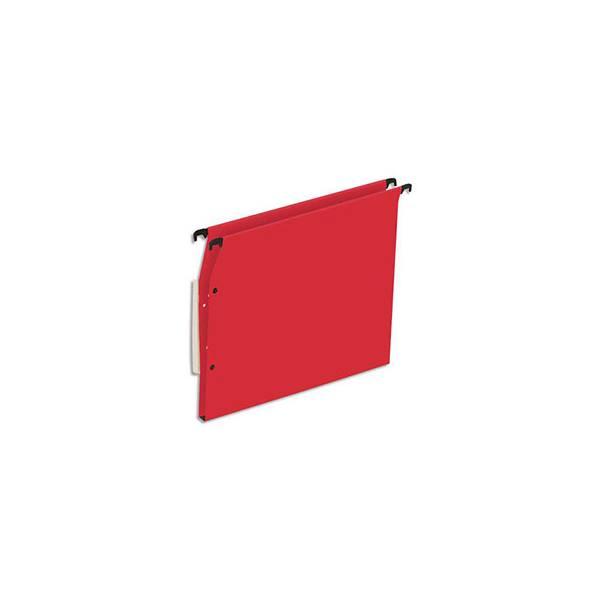 5 ETOILES Boîte de 25 dossiers suspendus ARMOIRE en kraft 220g. Fond 15 mm, volet agrafage + pression. Rouge (photo)
