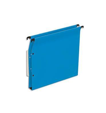 5 ETOILES Boîte de 25 dossiers suspendus ARMOIRE en kraft 220g. Fond 30 mm, volet agrafage + pression. Bleu