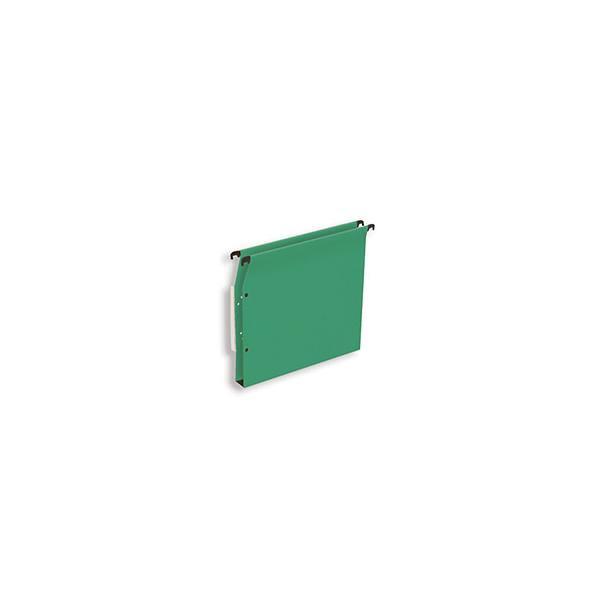 5 ETOILES Boîte de 25 dossiers suspendus ARMOIRE en kraft 220g. Fond 30 mm, volet agrafage + pression. Vert (photo)