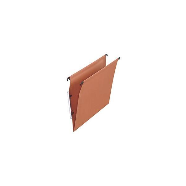 NEUTRE Boîte de 25 dossiers suspendus ARMOIRE en kraft 210g. Fond V, volet agrafage. Orange