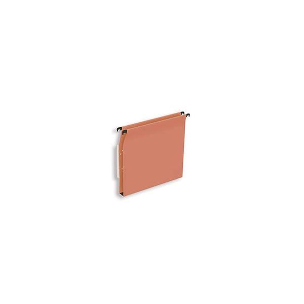 NEUTRE Boîte de 25 dossiers suspendus ARMOIRE en kraft 210g. Fond 30 mm, volet agrafage. Orange