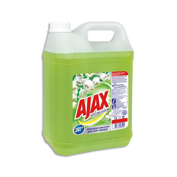 AJAX Bidon de 5 litres nettoyant multi-usage, parfum fleurs de Printemps (photo)