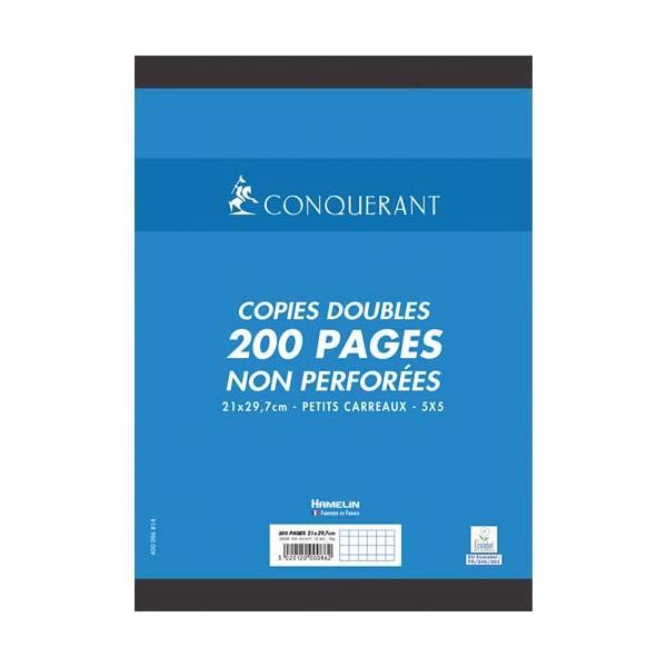 CONQUERANT 7 BY HAMELIN Copies doubles non perforées blanches 21 x 29,7 cm 200 pages 5x5 70g