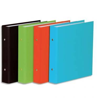 ELBA Classeur format A5 à 2 anneaux de 25 mm en carton pelliculé dos de 3,5 cm coloris assortis