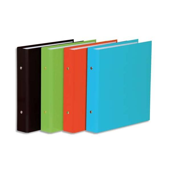 ELBA Classeur format A5 à 2 anneaux de 25 mm en carton pelliculé dos de 3,5 cm coloris a