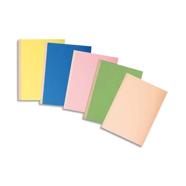 EXACOMPTA Paquet de 10 chemises à soufflet, carte 320g recyclée à 100% coloris assortis
