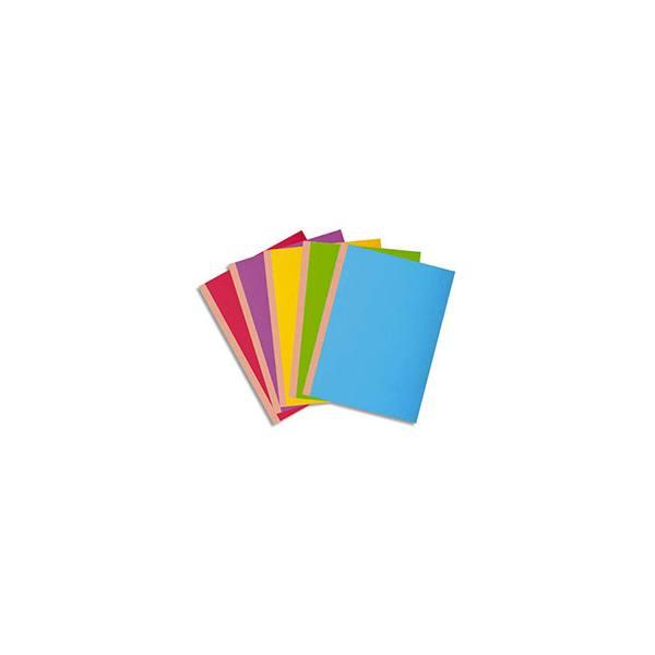 EXACOMPTA Paquet 10 chemises à soufflet de 3 cm, carte 360g Rock's, coloris assortis vifs