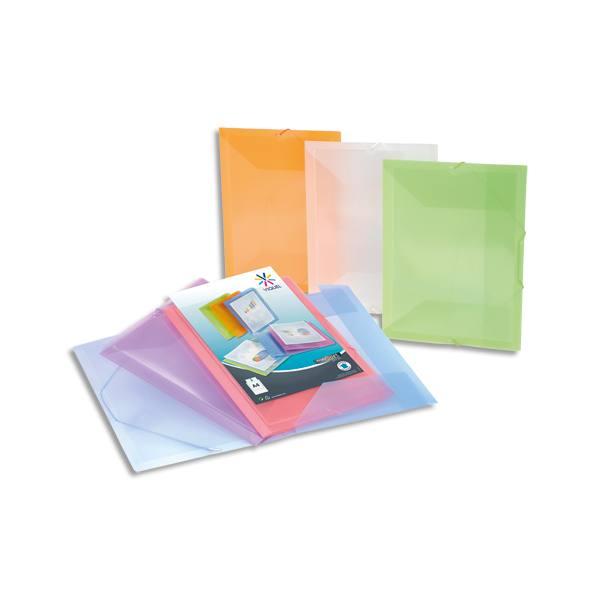 VIQUEL Chemises 3 rabats et élastiques PROPYSOFT personnalisable en polypropylène, coloris assortis