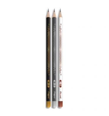 MAPED Crayon graphite HB tête trempée BLACK'PEPS DECO