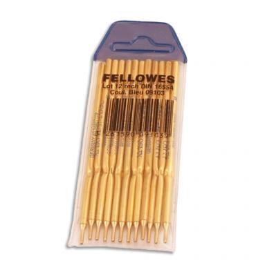 FELLOWES Recharge pour stylo bille sur socle pointe fine coloris bleu