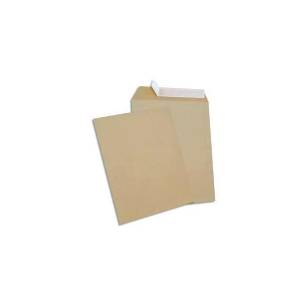 NEUTRE Boîte de 250 pochettes kraft auto-adhésives 90g format C4 229 x 324 mm