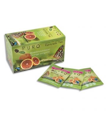 PURO Boîte de 25 sachets de thé Orange Sanguine 2g Fairtrade Tea