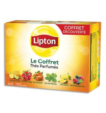 LIPTON Coffret de 60 sachets de thé parfumé