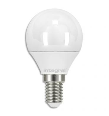 INTEGRAL Ampoule LED Mini Globe opale E14 5,5W blanc chaud