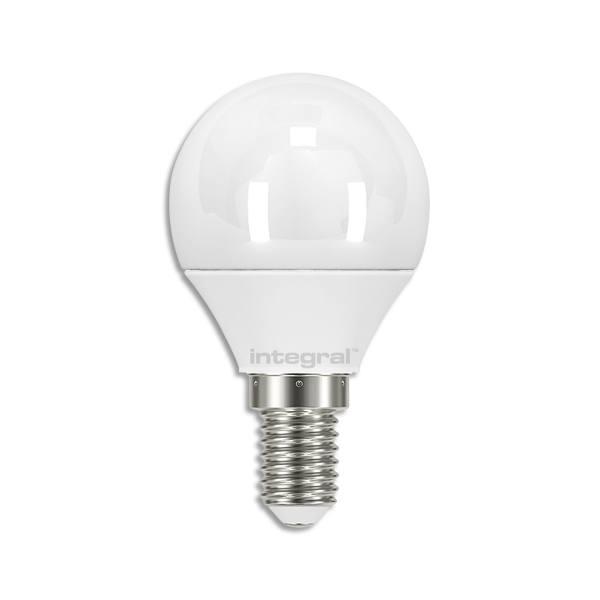 integral ampoule led mini globe opale e14 5,5w blanc chaud