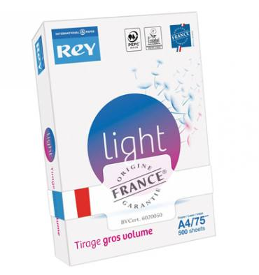 REY BY PAPYRUS Ramette de 500 feuilles A4 75g LIGHT