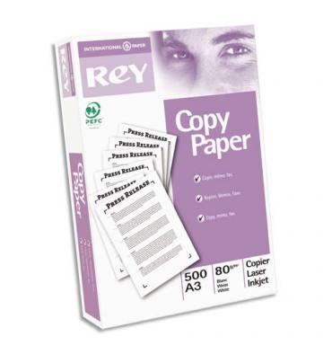 REY BY PAPYRUS Ramette de 500 feuilles papeteries de France Copy Paper A3 80g qualité C+