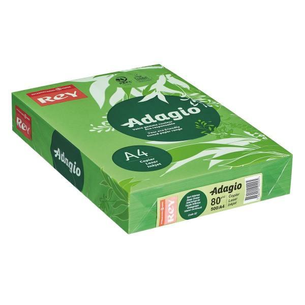 REY BY PAPYRUS Ramette de 500 feuilles papier couleur ADAGIO copieur, laser, jet d'encre 80g A4 vert vif