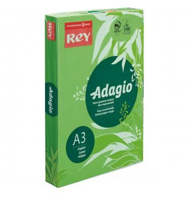 REY BY PAPYRUS Ramette de 500 feuilles papier couleur ADAGIO 80g A3 vert vif