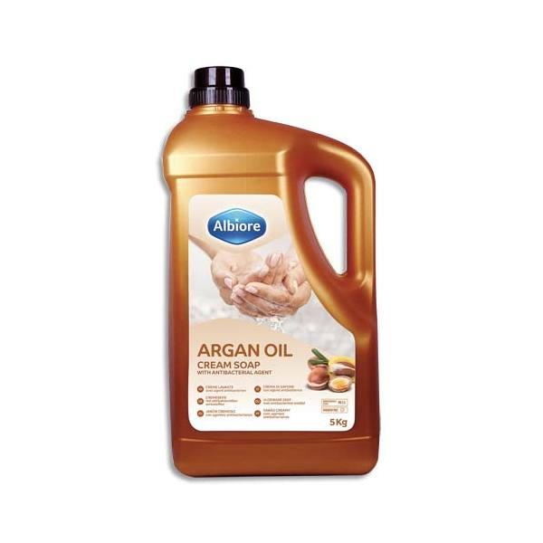 ALBIORE Crème mains et corps à l'huile d'Argan, 5 kg, testé dermatologiquement pH 5,5 sans parabène (photo)