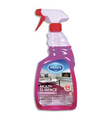 ALBIORE Spray de 750 ml, nettoyant multi-surfaces à base d'alcool