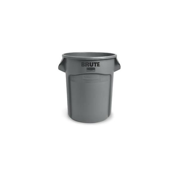 RUBBERMAID Collecteur Brute rond capacité 75 litres en polyéthylène - D49,5 cm, Hauteur 58,1 cm gris