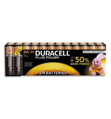 DURACELL Blister de 24 piles Plus power AA