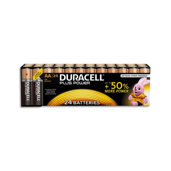 DURACELL Blister de 24 piles Plus power AA (photo)