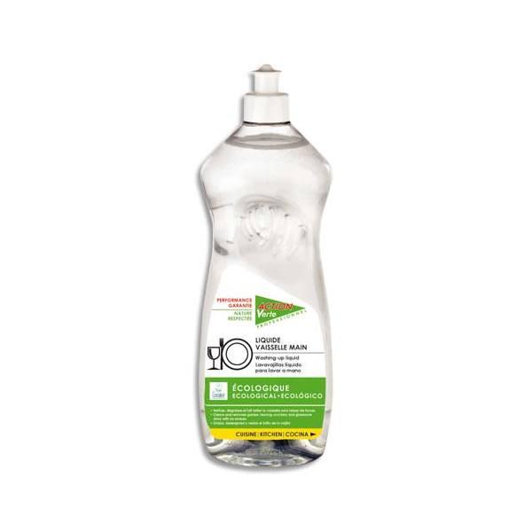 ACTION VERTE Flacon de liquide vaisselle main 1 litre, environ 100 lavages (photo)