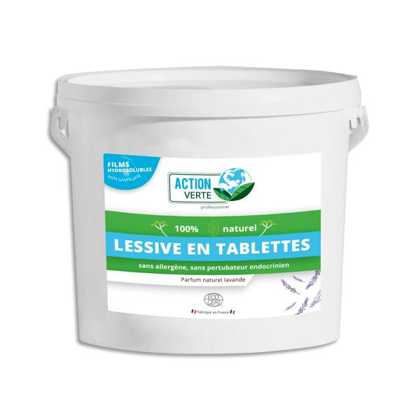 ACTION VERTE Tablette linge sous film hydrosoluble, 160 tablettes (photo)
