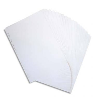 PERGAMY Jeu 20 intercalaires neutres 20 touches en carte 160g. Format A4. Coloris beige