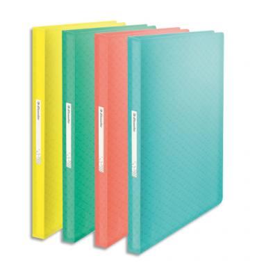 ESSELTE Protège-documents Colour ice 80 pochettes, 160 vues, en polypropylène 5/10ème. Coloris assortis