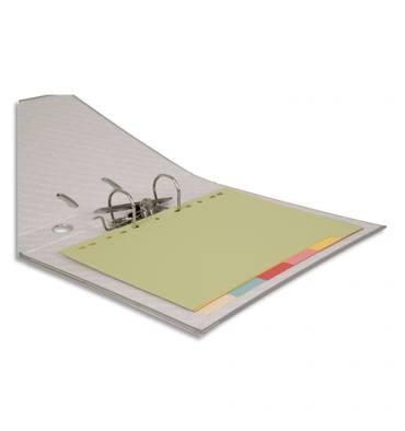 PERGAMY Jeu 6 intercalaires neutres 6 touches carte recyclée 170g. Format A4. Coloris assortis pastel