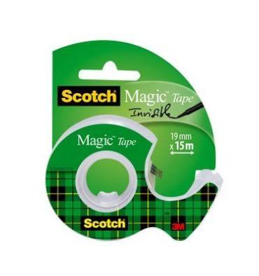 SCOTCH Ruban adhésif invisible Magic 810 sur dévidoir plastique 19 mm x 15 m