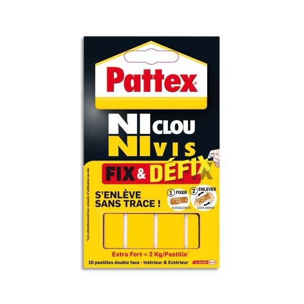 PATTEX Pochette de 10 pastilles adhésives Fix & Defix