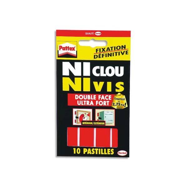 PATTEX Pochette de 10 pastilles adhésives Ni Clou, Ni Vis