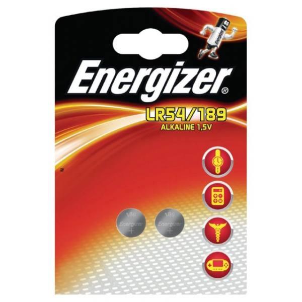 ENERGIZER Blister de 2 piles calculatrices/photo 189 LR54