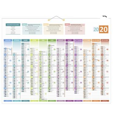 CBG Calendrier de 12 mois, 43 x 55 cm - Carte Union Européenne au verso