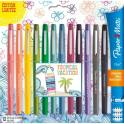PAPERMATE Blister 12 Stylos feutre Flair Original. Assortis Tropical