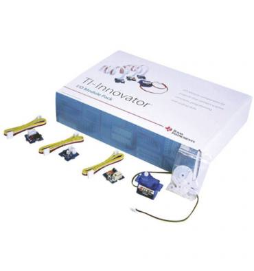 TEXAS Ti-Innovator™ Pack module E/Scapteur lumière avec câble, DEL blanc avec câble, moteur + câble, servomoteur + câble