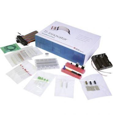 TEXAS Ti-Innovator™ pack platines essai résistor, condensateur, DEL, câbles, transmetteur, récepteur, capteur.