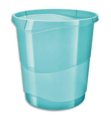 ESSELTE Corbeille à papier 14L COLOUR'ICE - 28,5 x 30,5 x 32,5 cm Bleu