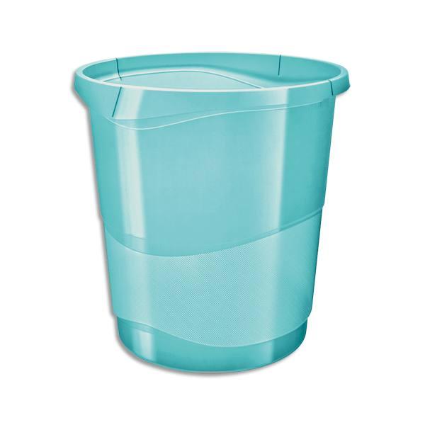 ESSELTE Corbeille à papier 14L COLOUR'ICE - 28,5 x 30,5 x 32,5 cm Bleu (photo)