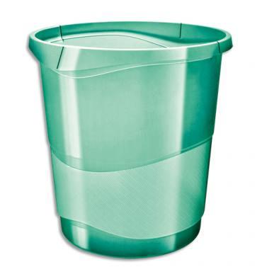 ESSELTE Corbeille à papier 14L COLOUR'ICE - 28,5 x 30,5 x 32,5 cm Vert