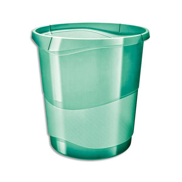 ESSELTE Corbeille à papier 14L COLOUR'ICE - 28,5 x 30,5 x 32,5 cm Vert (photo)