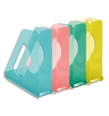 ESSELTE Porte-revues COLOUR'ICE assortis - (hxp) : 25,6 x 26 cm. Dos de 7,2 cm
