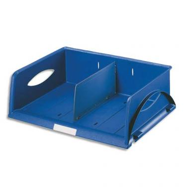 LEITZ Corbeille Sorty format paysage A4 Maxi - Bleu - L 40,5 x H 12,5 x P 30 cm