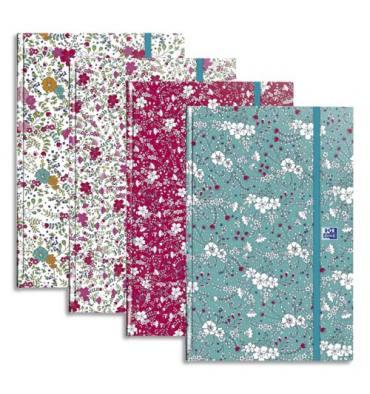 OXFORD Agenda Flowers, format 16 x 24 cm, 1 semaine sur 2 pages, couvertures assorties