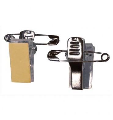 EVOLIS Boîte de 100 clips adhésif métal / Pince pour Badgy 100/200